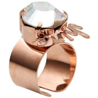 《期間限定セール開催中!》FIRST PEOPLE FIRST レディース 指輪 クリア one size 真鍮/ブラス / クリスタル ANELLO WORDS LOVE & SHINE
