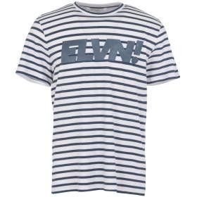 《期間限定セール開催中!》ELEVEN PARIS メンズ T シャツ パステルブルー S コットン 100% SLEVEN M