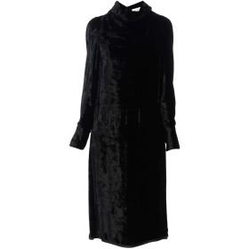 《セール開催中》MAISON MARGIELA レディース 7分丈ワンピース・ドレス ブラック 42 レーヨン 100% / キュプラ