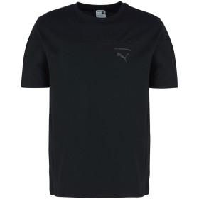 《セール開催中》PUMA メンズ T シャツ ブラック S コットン 100% Pace Primary Tee