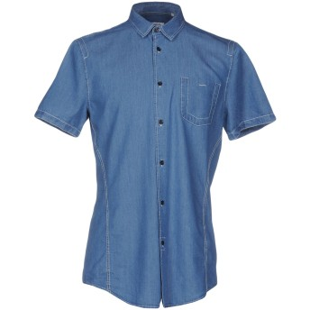 《期間限定セール開催中!》BIKKEMBERGS メンズ デニムシャツ ブルー XS 100% テンセル
