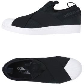 《セール開催中》ADIDAS ORIGINALS レディース スニーカー&テニスシューズ(ローカット) ブラック 6 革 / 紡績繊維 Superstar Slip On W