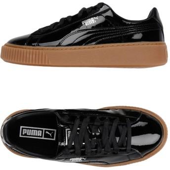 《期間限定 セール開催中》PUMA レディース スニーカー&テニスシューズ(ローカット) ブラック 4 紡績繊維 BASKET PLATFORM PATENT WN'S