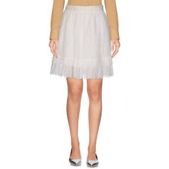 《セール開催中》PHILOSOPHY di LORENZO SERAFINI レディース ミニスカート ホワイト 38 コットン 55% / ラミー 40% / 指定外繊維 5%