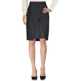 《セール開催中》NEIL BARRETT レディース ひざ丈スカート ブラック 42 ポリエステル 53% / バージンウール 44% / ポリウレタン 3%