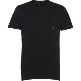 《期間限定 セール開催中》MAKIA メンズ T シャツ ブラック S コットン 100% SQUARE POCKET T-SHIRT
