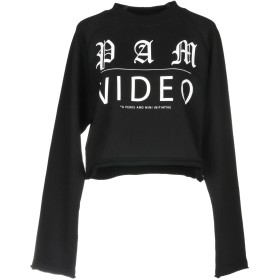 《期間限定セール開催中!》P.A.M. PERKS AND MINI レディース スウェットシャツ ブラック XS コットン 97% / ポリウレタン 3%