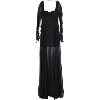 《セール開催中》MANGANO レディース ロングワンピース&ドレス ブラック 40 ポリエステル 100% / ポリウレタン