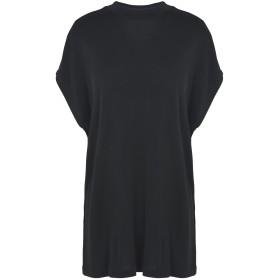 《期間限定セール開催中!》SAMSE Φ SAMSE レディース T シャツ ブラック XS レーヨン 100% Janina ss 9540