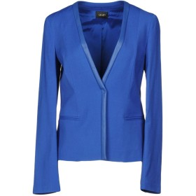 《期間限定セール開催中!》LIU JO レディース テーラードジャケット ブルー 42 レーヨン 69% / バージンウール 29% / ポリウレタン 2% / ポリウレタン樹脂