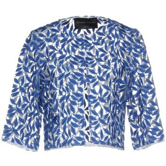 《9/20まで! 限定セール開催中》CHRISTIAN PELLIZZARI レディース テーラードジャケット ブルー 42 100% コットン ポリエステル