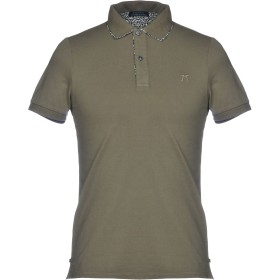 《期間限定セール開催中!》DIMATTIA メンズ ポロシャツ ミリタリーグリーン XS 95% コットン 5% ポリウレタン