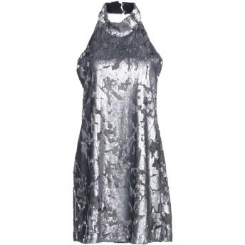 《期間限定セール開催中!》SOUVENIR レディース ミニワンピース&ドレス 鉛色 M 100% ポリエステル