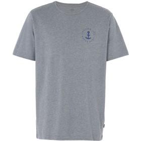 《セール開催中》MAKIA メンズ T シャツ グレー S コットン 100% SHANK T-SHIRT