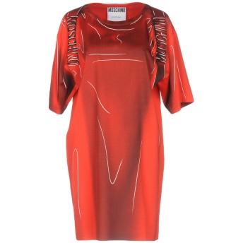 《期間限定セール開催中!》MOSCHINO レディース ミニワンピース&ドレス レッド 38 レーヨン 52% / アセテート 45% / 指定外繊維 3%