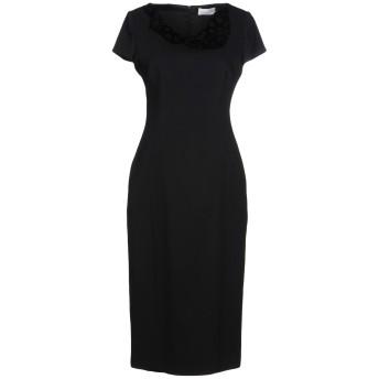 《セール開催中》MARIA GRAZIA SEVERI レディース 7分丈ワンピース・ドレス ブラック 44 アセテート 61% / レーヨン 34% / ポリウレタン 5%