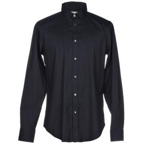 《9/20まで! 限定セール開催中》MAURO GRIFONI メンズ シャツ ダークブルー 38 コットン 75% / ナイロン 21% / ポリウレタン 4%