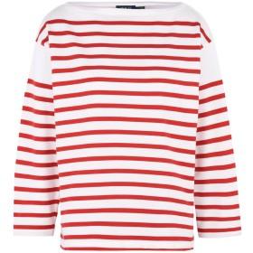 《期間限定セール開催中!》POLO RALPH LAUREN レディース T シャツ レッド XS コットン 100% Striped Long Sleeve T-shirt