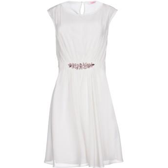 《9/20まで! 限定セール開催中》BLUGIRL FOLIES レディース ミニワンピース&ドレス ホワイト 40 100% ポリエステル