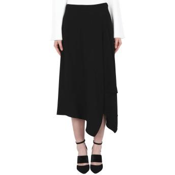 《セール開催中》DKNY レディース 7分丈スカート ブラック 2 ポリエステル 100% SKIRTS
