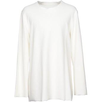 《セール開催中》IH NOM UH NIT メンズ スウェットシャツ アイボリー S コットン 100%