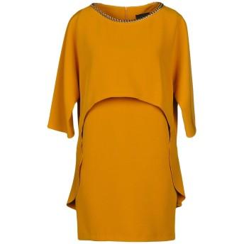 《セール開催中》ATOS LOMBARDINI レディース ミニワンピース&ドレス オークル 40 94% ポリエステル 6% ポリウレタン
