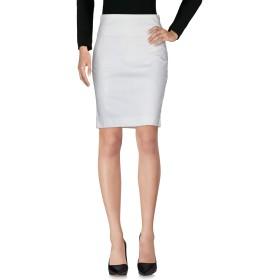 《セール開催中》PATRIZIA PEPE レディース ひざ丈スカート ホワイト 46 75% コットン 20% ナイロン 5% ポリウレタン アセテート ポリエステル