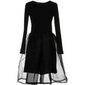 《期間限定セール開催中!》M by MAIOCCI レディース ミニワンピース&ドレス ブラック L ポリエステル 75% / コットン 25%