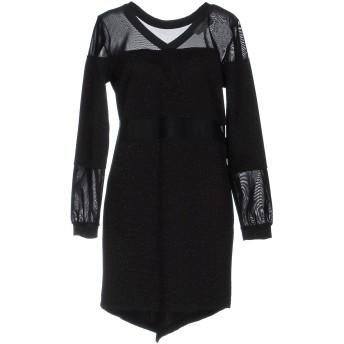 《セール開催中》JE SUIS LE FLEUR レディース ミニワンピース&ドレス ブラック 42 ポリエステル 96% / ポリウレタン 4%