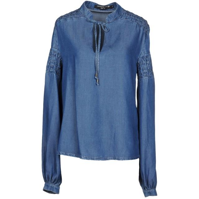 《期間限定セール開催中!》AMPERSAND HEART New York レディース デニムシャツ ブルー S 指定外繊維(テンセル) 100%