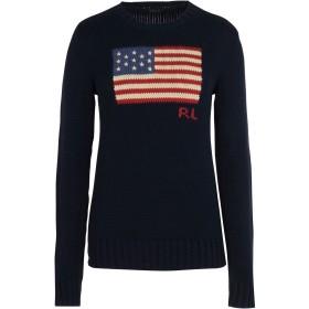 《セール開催中》POLO RALPH LAUREN レディース プルオーバー ダークブルー M コットン 100% Flag Cotton Sweater