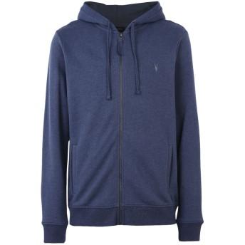 《期間限定セール開催中!》ALLSAINTS メンズ スウェットシャツ ブルー S コットン 100%