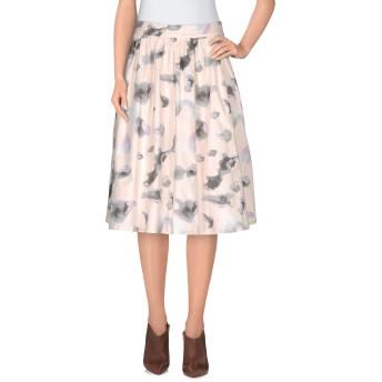 《9/20まで! 限定セール開催中》KARL LAGERFELD レディース ひざ丈スカート ライトピンク 40 コットン 95% / ポリウレタン 5%