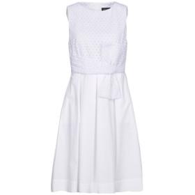 《セール開催中》FABRIZIO LENZI レディース ミニワンピース&ドレス ホワイト 44 コットン 100% / ポリウレタン