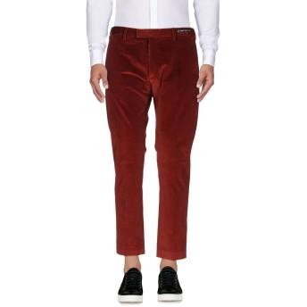 《9/20まで! 限定セール開催中》PT01 GHOST PROJECT メンズ パンツ 赤茶色 52 98% コットン 2% ポリウレタン