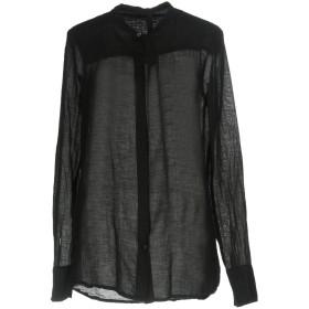 《期間限定セール開催中!》POME BOHMIEN レディース シャツ ブラック 42 コットン 38% / 麻 37% / キュプラ 25%