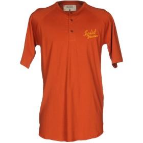 《期間限定 セール開催中》SOLID BY TRENDSPLANT メンズ T シャツ オレンジ XS コットン 100%