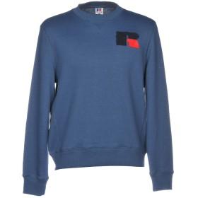 《期間限定セール中》RUSSELL ATHLETIC メンズ スウェットシャツ ブルーグレー XS コットン 50% / ポリエステル 50%