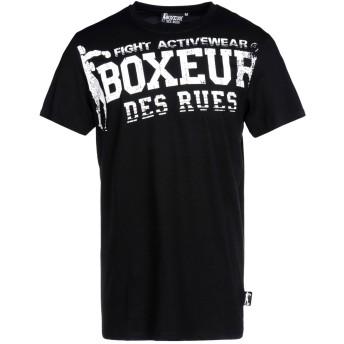 《セール開催中》BOXEUR DES RUES メンズ T シャツ ブラック S コットン 100% TRAINING TSHIRT