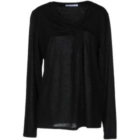 《期間限定 セール開催中》CARACTRE レディース T シャツ ブラック 38 テンセル 70% / ウール 30%