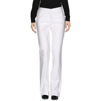 《セール開催中》LOVE MOSCHINO レディース パンツ ホワイト 40 コットン 96% / ポリウレタン 4%