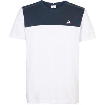《セール開催中》LE COQ SPORTIF メンズ T シャツ ホワイト S コットン 100% TRI Tee SS N2 M