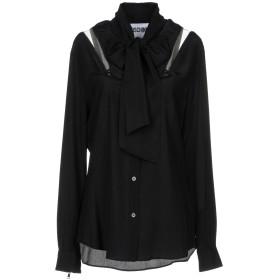《セール開催中》MOSCHINO レディース シャツ ブラック 44 シルク 100%