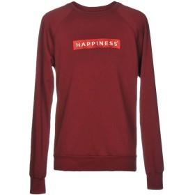 《期間限定セール開催中!》HAPPINESS メンズ スウェットシャツ ボルドー L コットン 100%