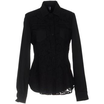 《セール開催中》LIU JO レディース シャツ ブラック 38 コットン 98% / ポリウレタン 2%