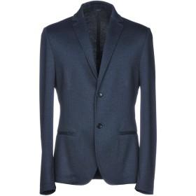 《期間限定セール開催中!》DANIELE ALESSANDRINI HOMME メンズ テーラードジャケット ダークブルー 52 ポリエステル 80% / レーヨン 15% / ポリウレタン 5%