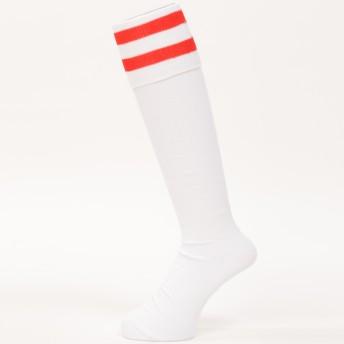 サッカー ジュニアストッキング サッカーストッキング2ライン 17-19 ジュニア s.a.gear (エスエーギア) SA-Y16-102-008 ホワイト/レッド