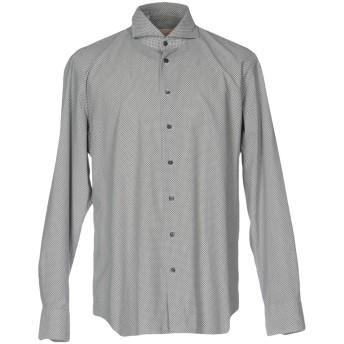 《セール開催中》EMANUELE MAFFEIS メンズ シャツ ライトグレー 38 コットン 100%