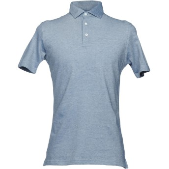 《9/20まで! 限定セール開催中》LUIGI BORRELLI NAPOLI メンズ ポロシャツ ブルー 56 コットン 100%
