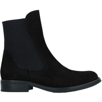 《期間限定セール開催中!》F.LLI BRUGLIA レディース ショートブーツ ブラック 36 革 / 紡績繊維